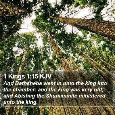 1 Kings 1:15 KJV Bible Verse Image