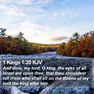 1 Kings 1:20 KJV Bible Verse Image