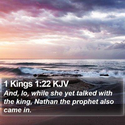 1 Kings 1:22 KJV Bible Verse Image