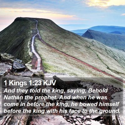 1 Kings 1:23 KJV Bible Verse Image