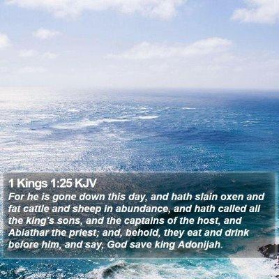 1 Kings 1:25 KJV Bible Verse Image