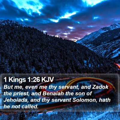 1 Kings 1:26 KJV Bible Verse Image
