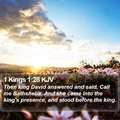 1 Kings 1:28 KJV Bible Verse Image