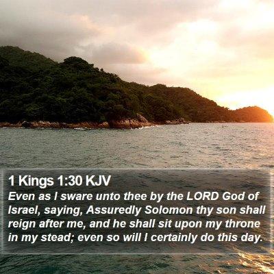 1 Kings 1:30 KJV Bible Verse Image