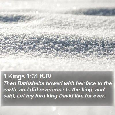 1 Kings 1:31 KJV Bible Verse Image