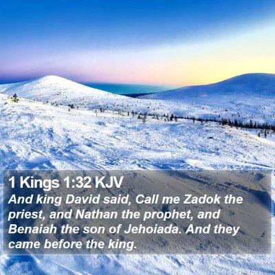 1 Kings 1:32 KJV Bible Verse Image