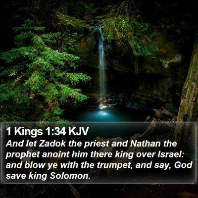 1 Kings 1:34 KJV Bible Verse Image