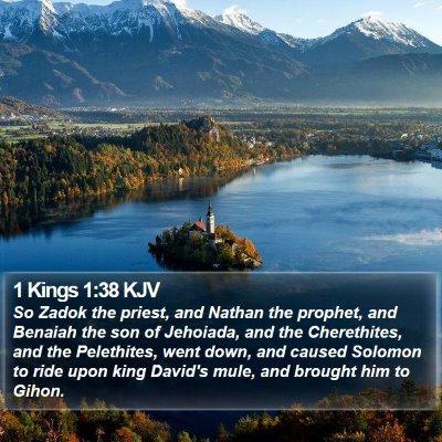 1 Kings 1:38 KJV Bible Verse Image