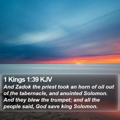 1 Kings 1:39 KJV Bible Verse Image