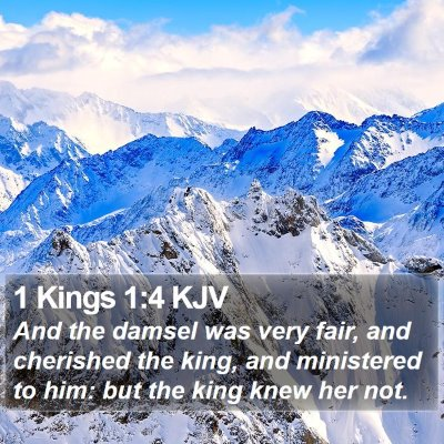 1 Kings 1:4 KJV Bible Verse Image