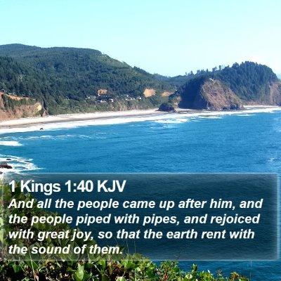 1 Kings 1:40 KJV Bible Verse Image