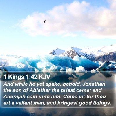 1 Kings 1:42 KJV Bible Verse Image