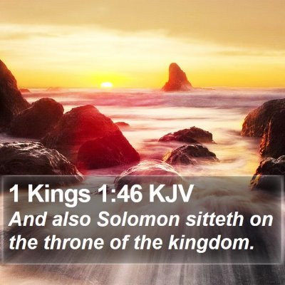 1 Kings 1:46 KJV Bible Verse Image