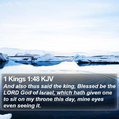 1 Kings 1:48 KJV Bible Verse Image
