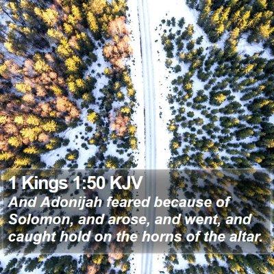 1 Kings 1:50 KJV Bible Verse Image