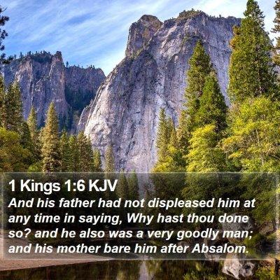 1 Kings 1:6 KJV Bible Verse Image