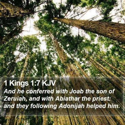 1 Kings 1:7 KJV Bible Verse Image