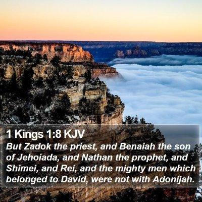 1 Kings 1:8 KJV Bible Verse Image