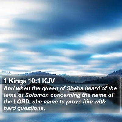 1 Kings 10:1 KJV Bible Verse Image