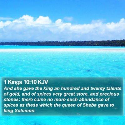 1 Kings 10:10 KJV Bible Verse Image