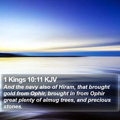 1 Kings 10:11 KJV Bible Verse Image