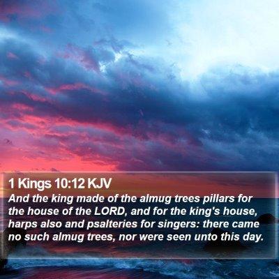 1 Kings 10:12 KJV Bible Verse Image