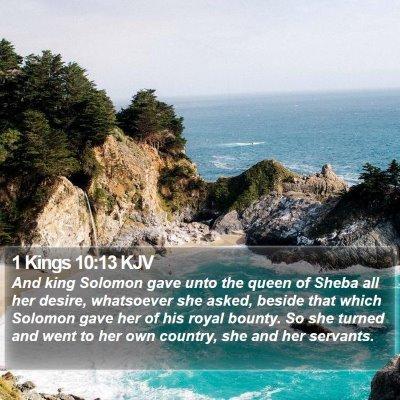1 Kings 10:13 KJV Bible Verse Image
