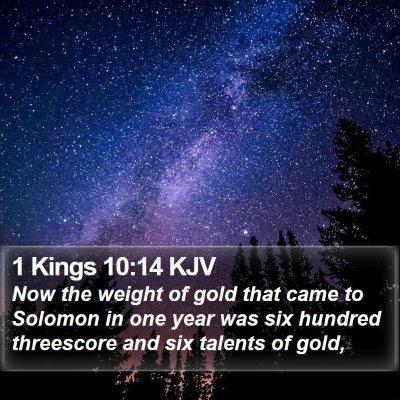1 Kings 10:14 KJV Bible Verse Image