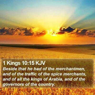 1 Kings 10:15 KJV Bible Verse Image