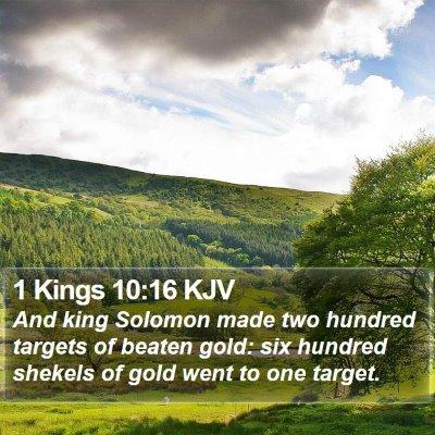1 Kings 10:16 KJV Bible Verse Image