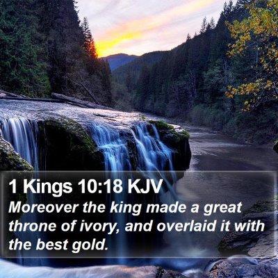 1 Kings 10:18 KJV Bible Verse Image