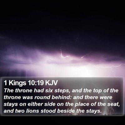 1 Kings 10:19 KJV Bible Verse Image