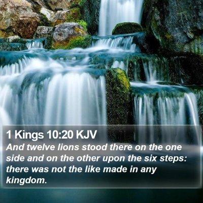 1 Kings 10:20 KJV Bible Verse Image