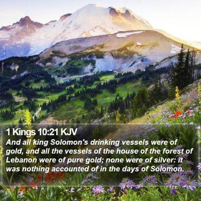 1 Kings 10:21 KJV Bible Verse Image