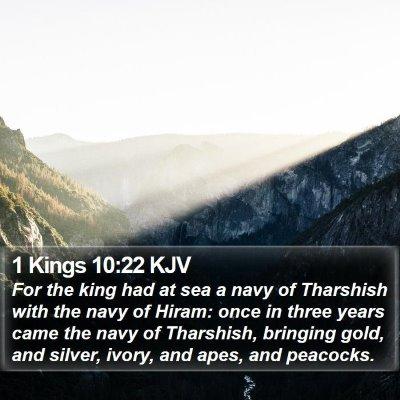 1 Kings 10:22 KJV Bible Verse Image