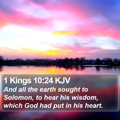 1 Kings 10:24 KJV Bible Verse Image