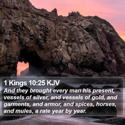 1 Kings 10:25 KJV Bible Verse Image