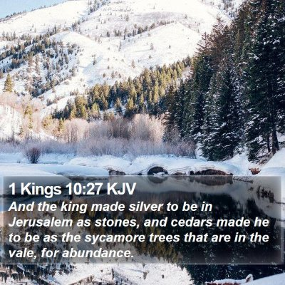 1 Kings 10:27 KJV Bible Verse Image