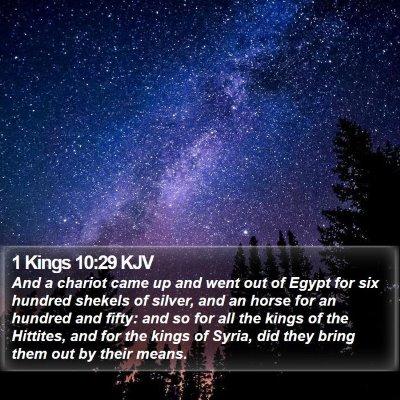 1 Kings 10:29 KJV Bible Verse Image