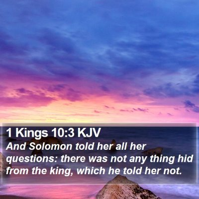 1 Kings 10:3 KJV Bible Verse Image