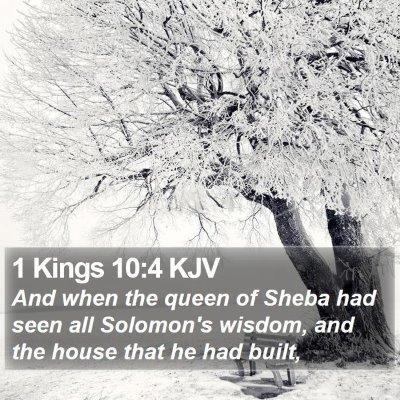 1 Kings 10:4 KJV Bible Verse Image