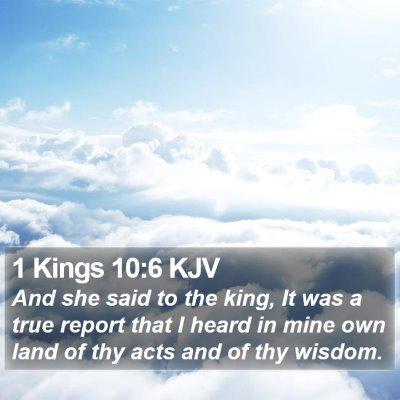 1 Kings 10:6 KJV Bible Verse Image