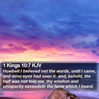 1 Kings 10:7 KJV Bible Verse Image