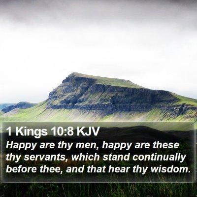 1 Kings 10:8 KJV Bible Verse Image