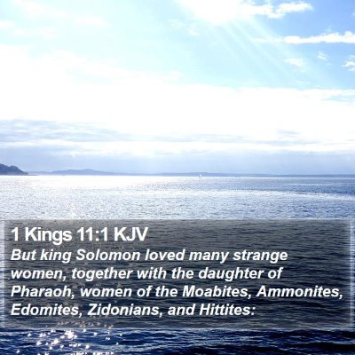 1 Kings 11:1 KJV Bible Verse Image