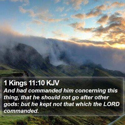 1 Kings 11:10 KJV Bible Verse Image