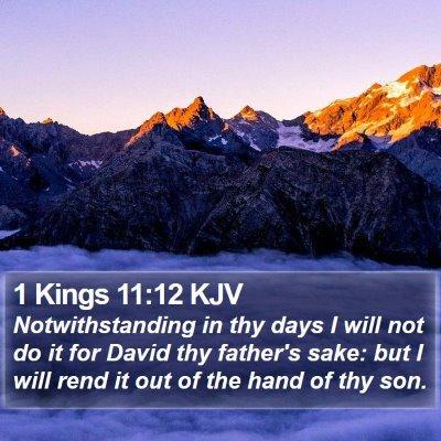 1 Kings 11:12 KJV Bible Verse Image