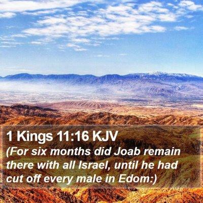 1 Kings 11:16 KJV Bible Verse Image
