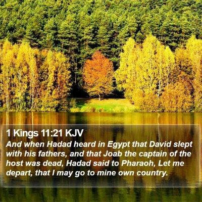 1 Kings 11:21 KJV Bible Verse Image