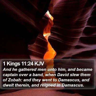 1 Kings 11:24 KJV Bible Verse Image